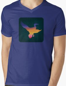 Sunset Duck Hunt Mens V-Neck T-Shirt