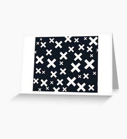 Multiply White & Black Greeting Card