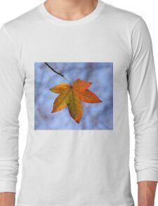 Autumn Leaf Backlit Long Sleeve T-Shirt