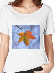 Autumn Leaf Backlit Women's Relaxed Fit T-Shirt