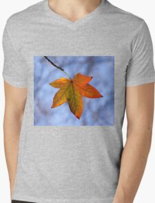 Autumn Leaf Backlit Mens V-Neck T-Shirt