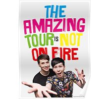 The Amazing Tour Is Not On Fire danisnotonfire and AmazingPhil Poster