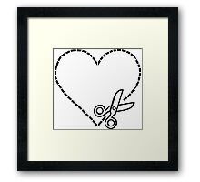 Cut My Heart Out Framed Print