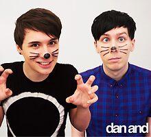 Dan & Phil/danisnotonfire & AmazingPhil by warmsugarshoppe