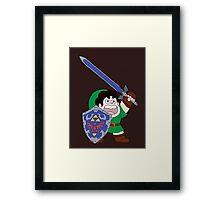 The Legend of Steven Framed Print