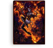 Fire of Halloween Canvas Print