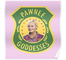 Leslie Knope Pawnee Goddesses Badge Poster