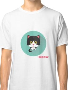 Cute cat says meow.  Classic T-Shirt