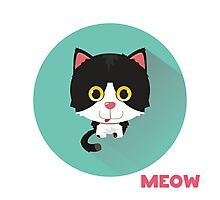 Cute cat says meow.  Photographic Print