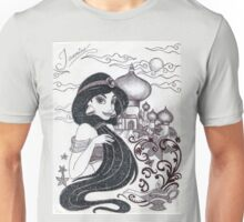 Monochrome Princess J Unisex T-Shirt