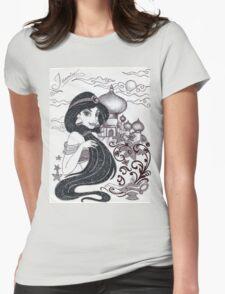 Monochrome Princess J Womens Fitted T-Shirt