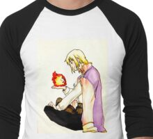 Heart on fire Men's Baseball ¾ T-Shirt