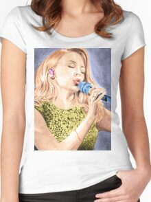 Kylie Minogue sing Women's Fitted Scoop T-Shirt