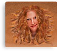 Julorobani - abstract digital portrait Canvas Print