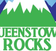 QUEENSTOWN rocks New Zealand with map Sticker