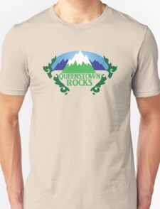 QUEENSTOWN rocks New Zealand with map T-Shirt