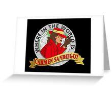 Carmen Sandiego Greeting Card