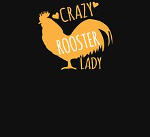 Crazy Rooster Lady Womens Fitted T-Shirt