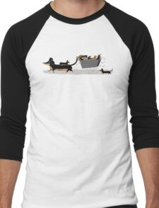 Sausage Dog Express Men's Baseball ¾ T-Shirt