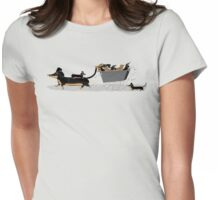 Sausage Dog Express Womens Fitted T-Shirt