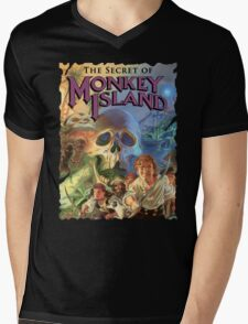 Monkey Island Mens V-Neck T-Shirt