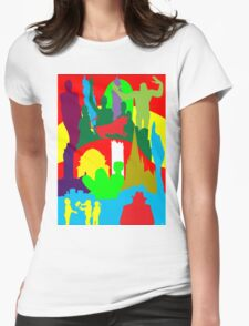 BIRMINGHAM (ENGLAND) SKYLINES Womens Fitted T-Shirt
