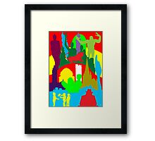BIRMINGHAM (ENGLAND) SKYLINES Framed Print