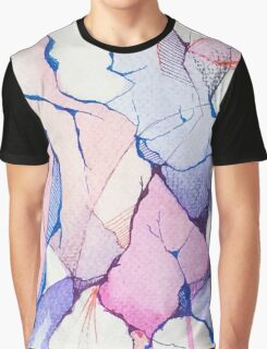 watercolor ink Graphic T-Shirt