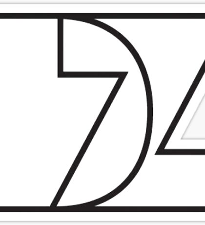 Delta Zeta (b&w) Sticker