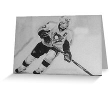 Paniting of Sidney Crosby, NHL- Players Greeting Card
