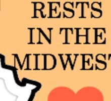 My heart rests in the midwest (Illinois) Sticker