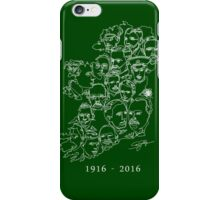 1916 commemorative print: White on Green iPhone Case/Skin
