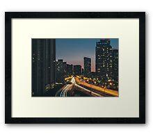 Traffic at night  Framed Print