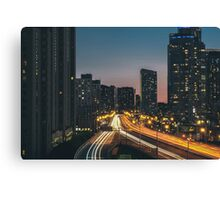 Traffic at night  Canvas Print