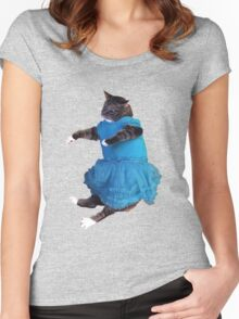 Fabulous Kitty Women's Fitted Scoop T-Shirt