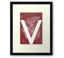 V is for Valentine Framed Print