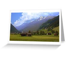 Alps - Stubai Valley, Austria Greeting Card