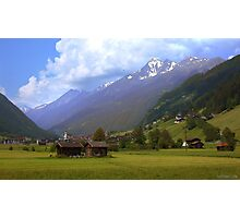 Alps - Stubai Valley, Austria Photographic Print