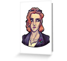 Punk!Scully Greeting Card