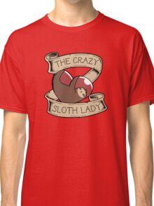 Crazy Sloth Lady Tattoo Classic T-Shirt