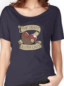 Crazy Sloth Lady Tattoo Women's Relaxed Fit T-Shirt