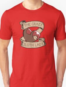 Crazy Sloth Lady Tattoo Unisex T-Shirt