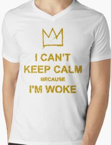 Woke Mens V-Neck T-Shirt
