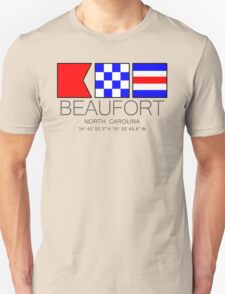BEAUFORT North Carolina Nautical Flag Art Unisex T-Shirt