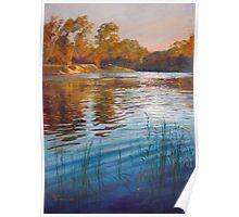 'Evening Reflections' - Goulburn River Poster