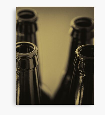 Beer Bottles Canvas Print