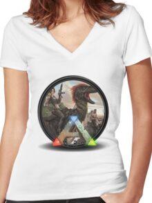 Ark Survival  Women's Fitted V-Neck T-Shirt