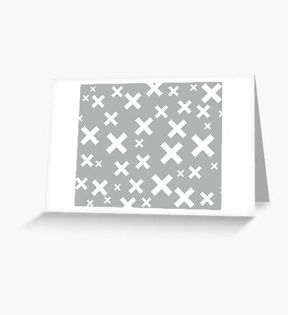 Multiply Grey Greeting Card