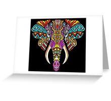 Mosaic Elephant: Rainbow Beast Greeting Card