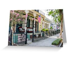 New Orleans Historic Houses Greeting Card